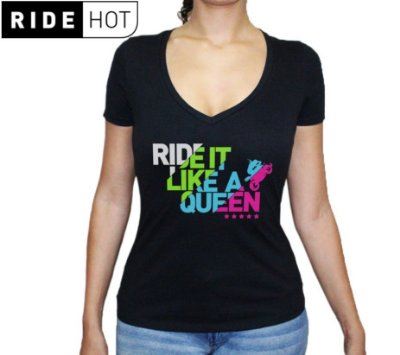 Camiseta Ride it Like a Queen
