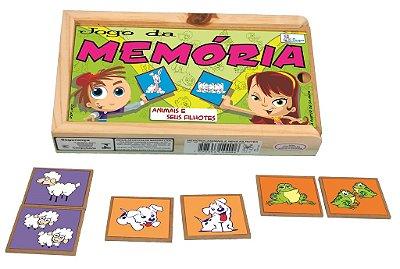 Jogo da Memória Animais e Seus Filhotes
