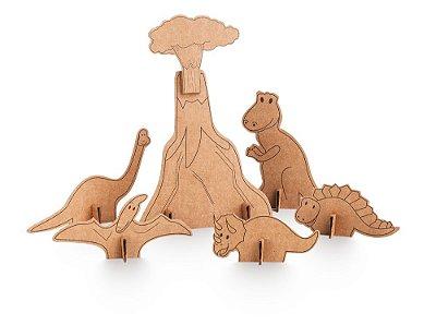 Dinossauros de Papelão para Montar