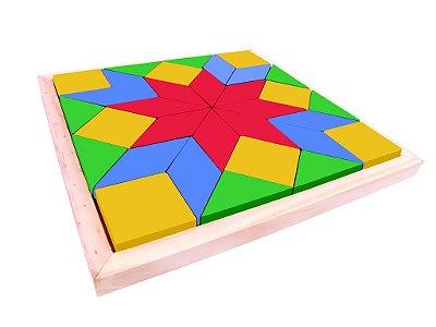 Mosaico com 33 peças