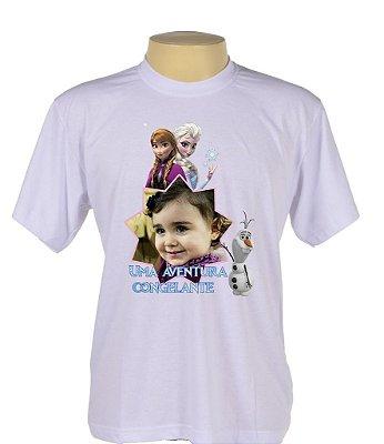Camiseta Infantil do tamanho 2 ao 14 Somente na cor Branca 100% Poliester