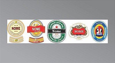 Adesivos para Garrafa de Cerveja