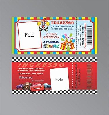 Convite Ingresso-15 x 6,5 cm