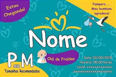 Convite de Marca de Frauda Chá de Bebê-10x15cm