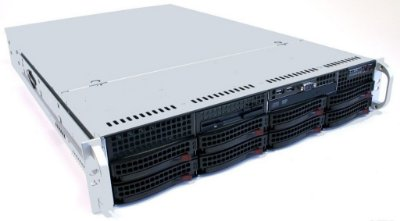 Servidor 2U, Com 2 processadores E5-2670, 16Gb, 2 Hds SATA 500GB, Fonte Fixa Hot Swap, Controladora RAID