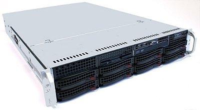 Servidor 2U, Com 2 processadores E5-2670, 16Gb, HD interno, Fonte Fixa, Controladora RAID