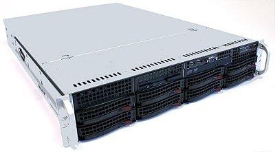 Servidor 2U, Com 2 processadores E5-2670, 16Gb, Fonte Redundante, Controladora RAID