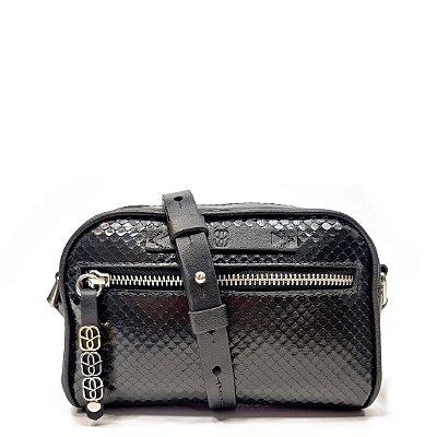 Bolsa Schutz Berloques Croco Preta - S5001142980001
