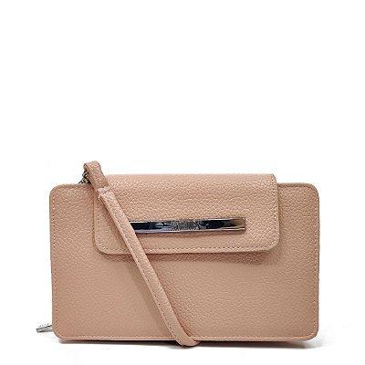 Bolsa Santa Lolla Clutch Carteira Nude Rosado - 0471317C00880210