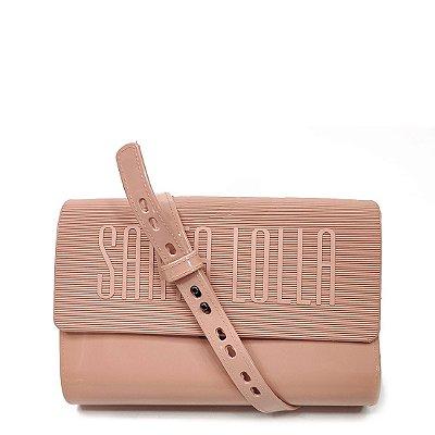 Bolsa Santa Lolla Plástica Retangular Nude - 0470338C001601D8