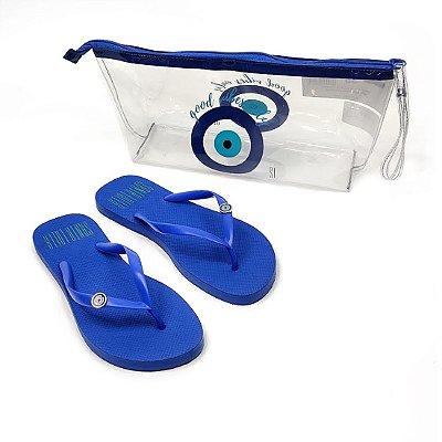 Chinelo Santa Lolla Kit Necessaire Azul Cobalto - 70032CAD00160042