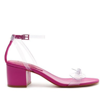 Sandália Schutz Laço Vinil Pink - S2000105970002