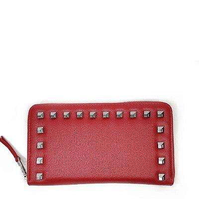 Carteira Santa Lolla Spike Grande Vermelha - 047131D601ED011E