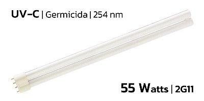 Lâmpada Ultravioleta Germicida | 55w | 2G11 | 254nm | UVC