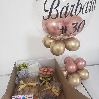 Festa na Caixa Pequena com Balão Bubble