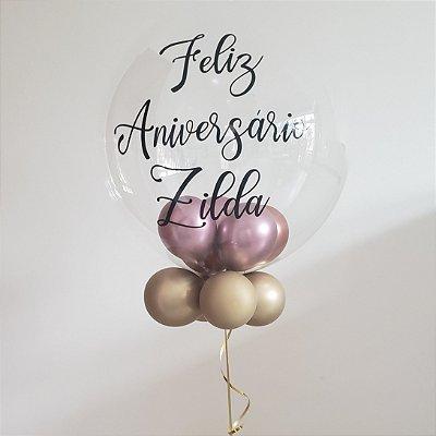 Balão Bubble Personalizado com Hélio