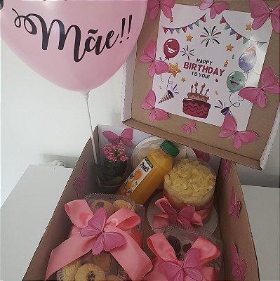 Festa na Caixa Pequena Borboletas Rosa