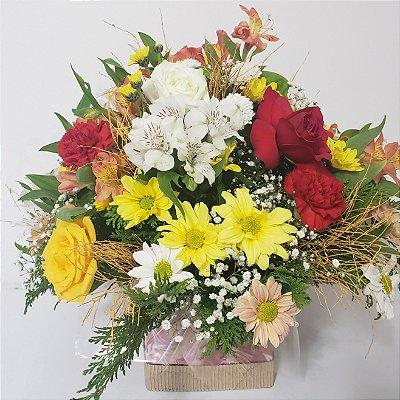 Flores campo cachepó