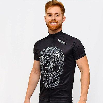 Camisa Vezzo Ciclotour Masculino Bike Skull