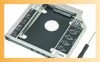Adaptador Dvd Para Hd Ou Ssd Notebook Lotus 9.5mm