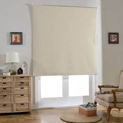 Persiana Rolô Blackout - STRUCTURED BEGE 1,40 X 1,60 m.