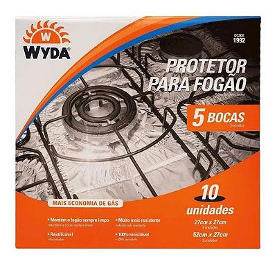 PROTETOR PARA FOGAO WYDA 5 BOCAS COM 10UNID
