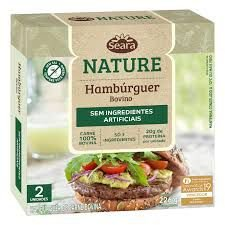 HAMBURGUER 2 UN BOVINO NATURE SEARA 226G