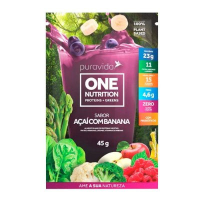 ONE NUTRITION ACAI COM BANANA 45G - PURA VIDA