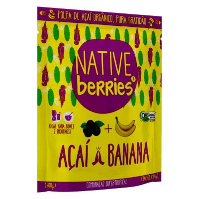 ACAI ORGANICO COM BANANA 400G NATIVE BERRIES