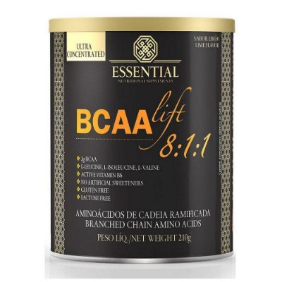 BCAA LIFT ESSENTIAL NUTRITION LIMAO LATA 210G