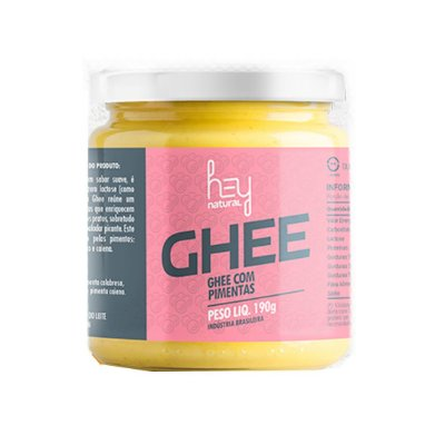 MANTEIGA GHEE COM PIMENTAS HEY NATURAL 190G
