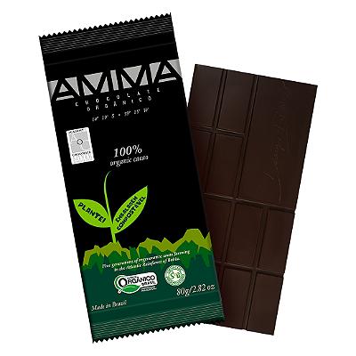 TABLETE AMMA CHOCOLATE ORGANICO 100% CACAU