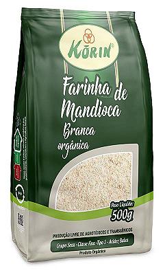 FARINHA DE MANDIOCA KORIN BRANCA ORGANICA 500G
