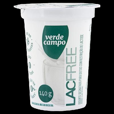 IOGURTE NATURAL LAC FREE VERDE CAMPO 140G