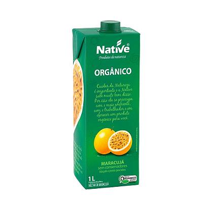 NECTAR DE MARACUJA ORGANICO NATIVE 1L