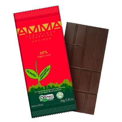 TABLETE AMMA CHOCOLATE ORGANICO 60% CACAU