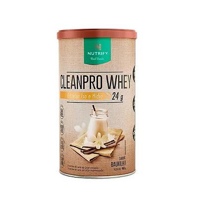 CLEANPRO WHEY BAUNILHA NUTRIFY 450G