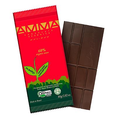 TABLETE AMMA CHOCOLATE ORGANICO QAHWA 60 CACAU 80G