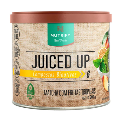 JUICED UP MATCHA FRUTAS TROPICAIS NUTRIFY 200G