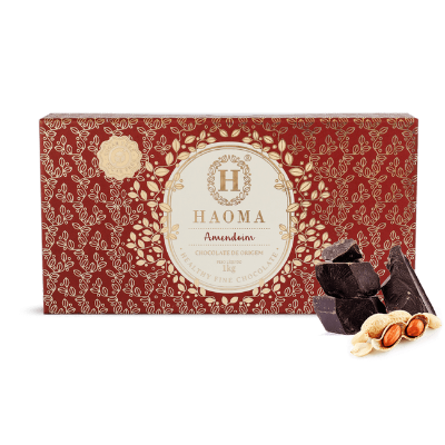 CHOCOLATE HAOMA BAR  AMENDOIM 1KG