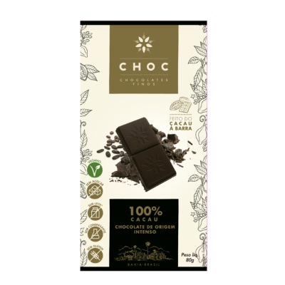 CHOCOLATE 100 CACAU CHOC 80G