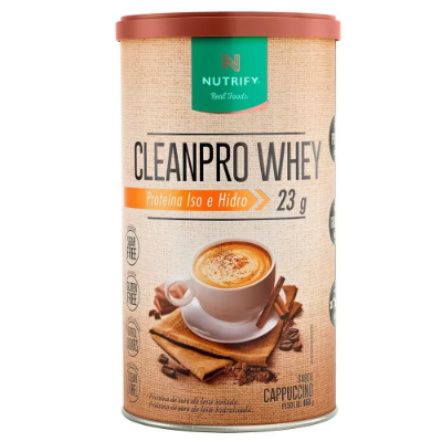 CLEANPRO WHEY CAPPUCCINO NUTRIFY FOODS 450G