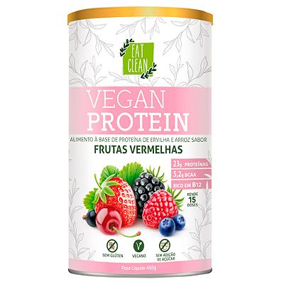 VEGAN PROTEIN EAT CLEAN FRUTAS VERMELHAS LATA 450G