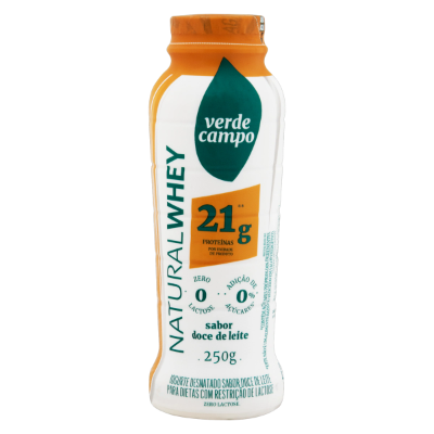 IOGURT NATURAL WHEY 21 DOCE LEITE VERDE CAMPO 250G