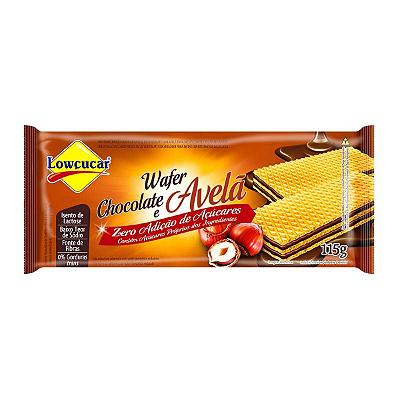 WAFER LOWCUCAR ZERO CHOCOLATE E AVELA 115G