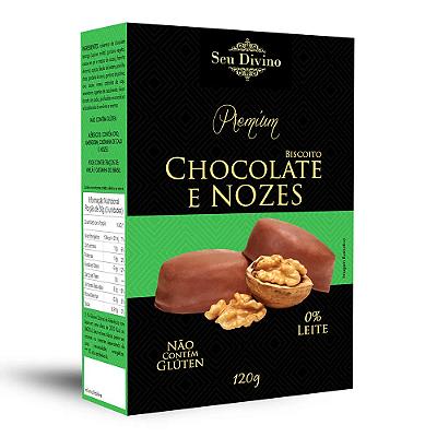 BISCOITO VEG CHOCOLATE E NOZES SEU DIVINO 120G