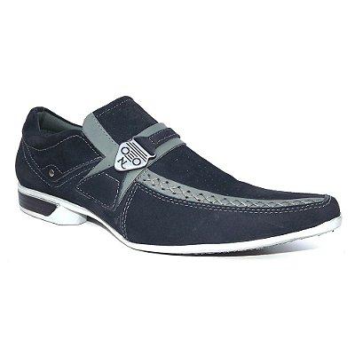 Sapato Social Nevano Esporte Fino Azul Marinho