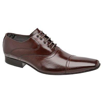 Sapato Social Em Pelica e Solado em Couro