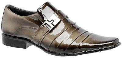 Sapato Social Gofer Verniz Mouro