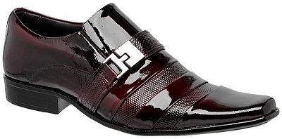 Sapato Social Gofer Envernizado Dark Red